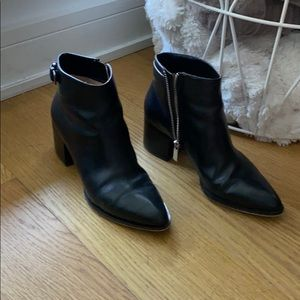 MK leather boots
